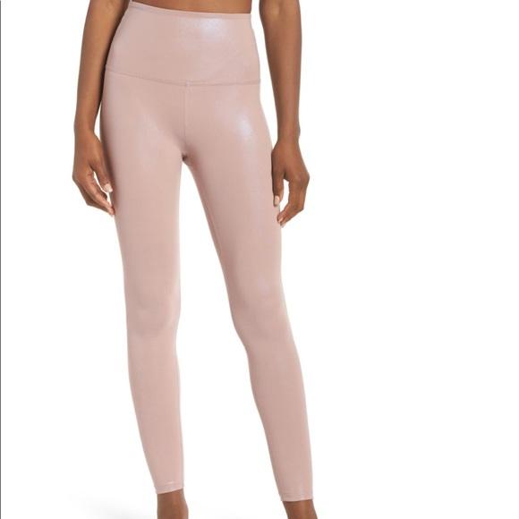 Beyond Yoga Pants - Beyond yoga pearlized blush leggings